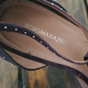 BCBGMaxAzria Shoes - BCBG Maxazria plum purple t-strap leather heels